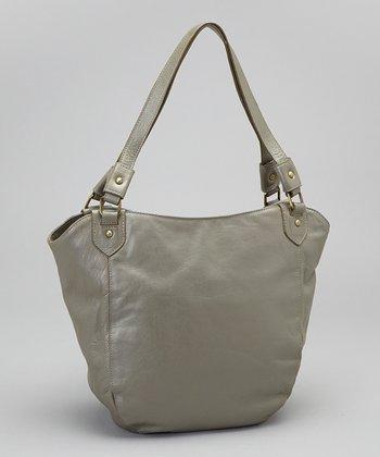 Latico Leather Metallic Gray Waverly Shoulder Bag