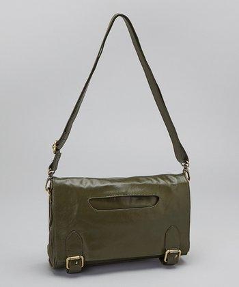 Latico Leather Olive Waverly Crossbody Bag