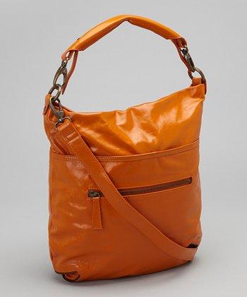Latico Leather Orange Francesca Crossbody Bag