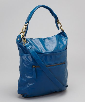 Latico Leather Blue Francesca Crossbody Bag