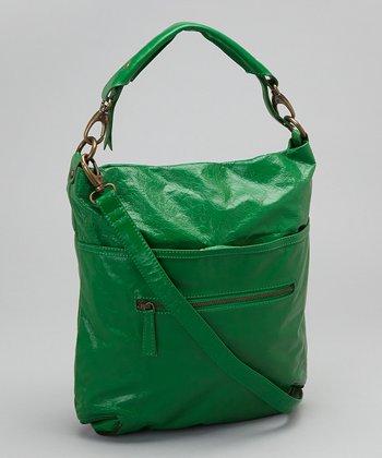 Latico Leather Green Francesca Crossbody Bag