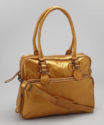 Latico Leather Metallic Gold Fay Tote