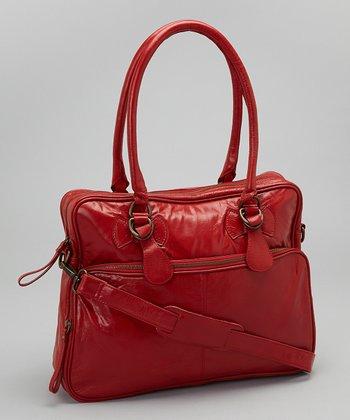 Latico Leather Red Fay Tote