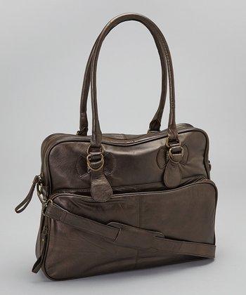 Latico Leather Metallic Brown Fay Tote