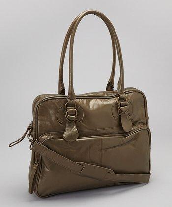 Latico Leather Metallic Olive Fay Tote