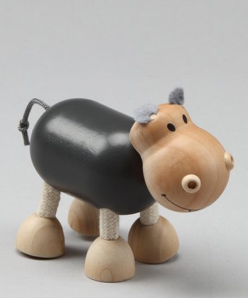 Hippo Wooden Toy