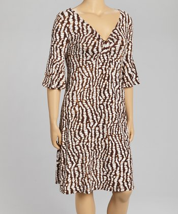 Black & Brown Jungle Dress - Plus