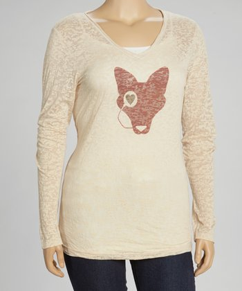 Nude Monocle Fox Burnout Top - Plus