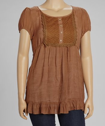 Rust Peasant Top - Plus