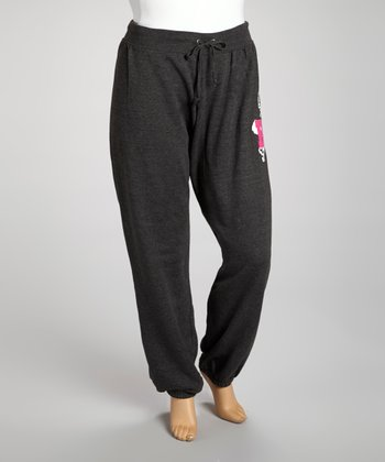 Charcoal 'Rock' Fleece Sweatpants - Plus