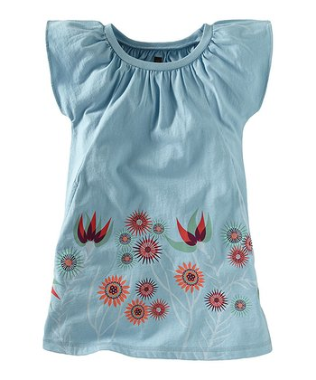 Powder Blue Anemone Garden Dress - Girls