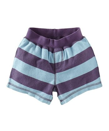 Powder Blue Cape Point Sporty Shorts - Infant, Toddler & Girls
