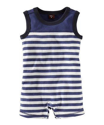 Huckleberry Coastal Stripe Romper - Infant