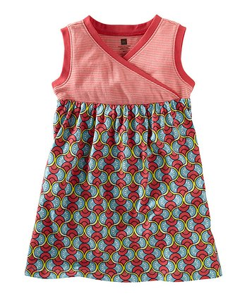 Azul Domba Surplice Dress - Girls