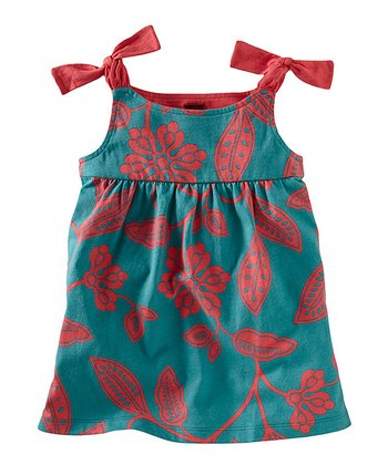 Peacock Durban Tie Tunic - Girls