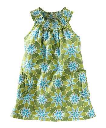 Shamrock Floral Shirred Yoke Dress - Infant