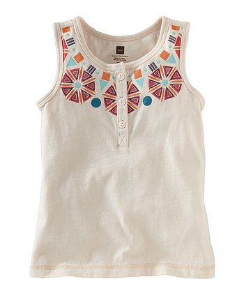 Shell Necklace Henley Top - Infant, Toddler & Girls