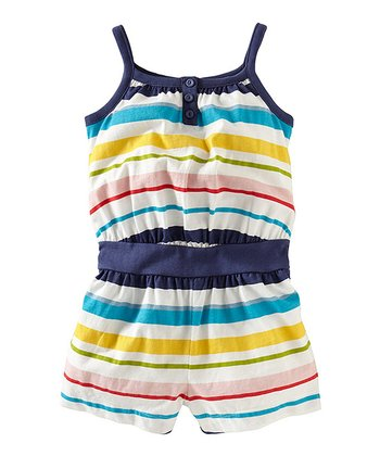 Milk Hout Bay Henley Romper - Girls