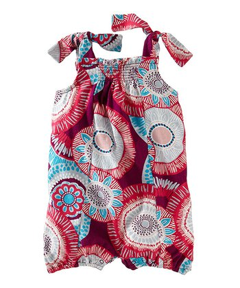 Loganberry Nova Tie Romper - Infant
