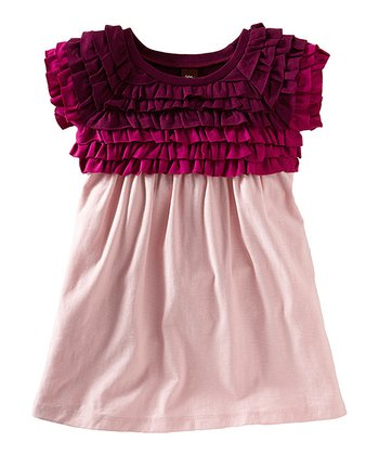 Rosebud Ombré Ruffle Dress - Girls