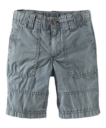 Storm Blue Sharp Beach Shorts - Infant