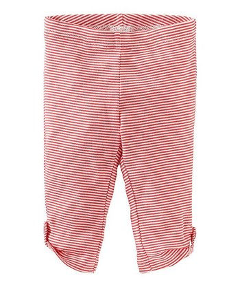 Pink Amaryllis Side-Tab Capri Leggings - Girls