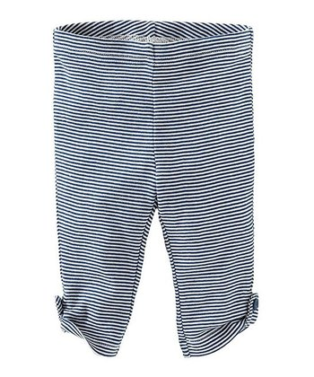 Blue Nova Side-Tab Capri Leggings - Girls