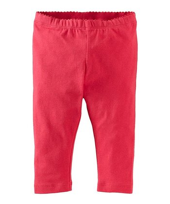 Camille Pink Capri Leggings - Infant & Girls
