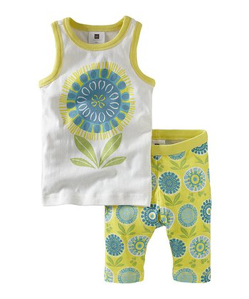 Yuzu Sunflower Tank Pajama Set - Infant, Toddler & Girls