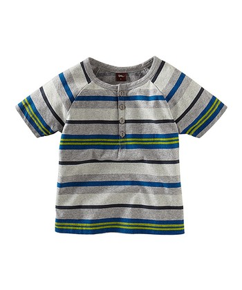 Heather Gray Surf Beach Henley - Toddler & Boys