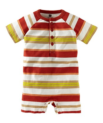 Brick Surf Beach Henley Romper - Infant