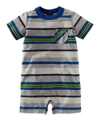 Heather Gray Surf Pocket Romper - Infant