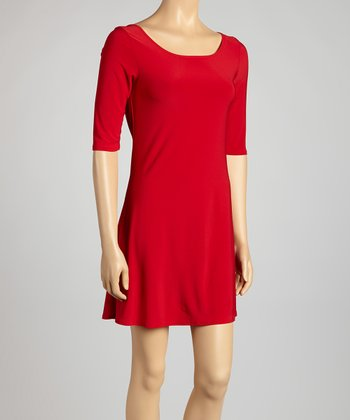 Red Tie-Back Dress