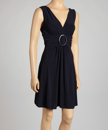 Navy Banded Dress