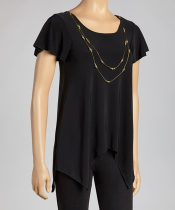 Black & Gold Necklace Top