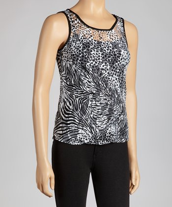 Black & White Animal Sleeveless Top