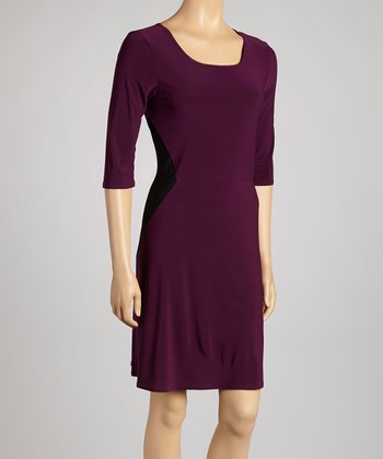 Plum & Black Dress