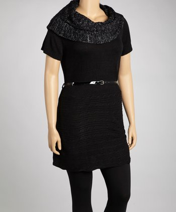 Black Belted Tunic - Plus