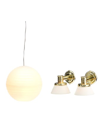 Småland Rice Shade & Wall Lamp Set