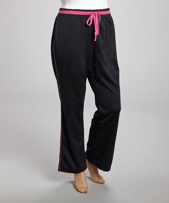 Pink & Black Stripe B Insert Pants - Plus