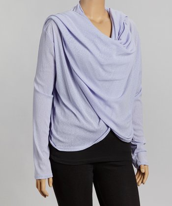Lavender Open Cardigan - Plus
