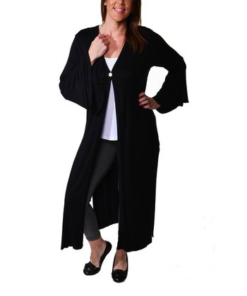 Black Butterfly Sleeve Jacket - Plus