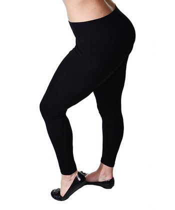 Black Stretch Leggings - Plus