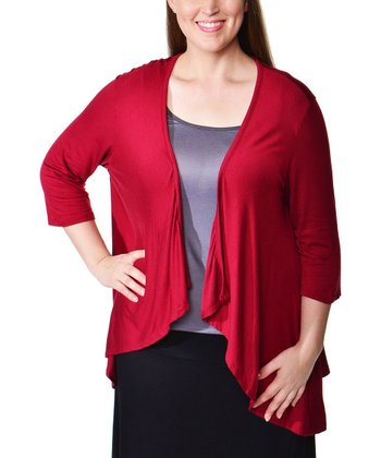 Wine Tapered Shrug - Plus