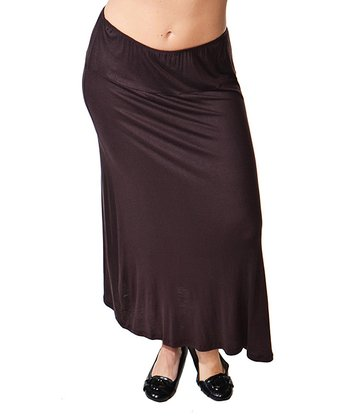 Brown Maxi Skirt - Plus