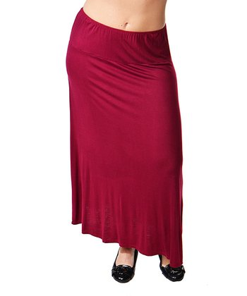 Wine Maxi Skirt - Plus