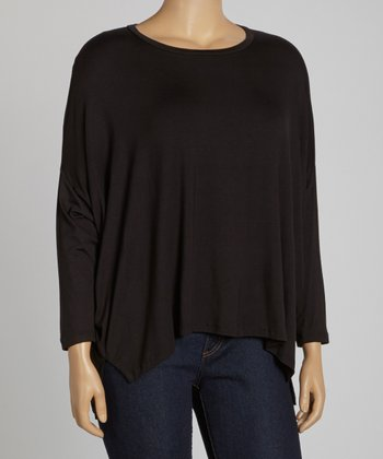 Black Dolman Top - Plus