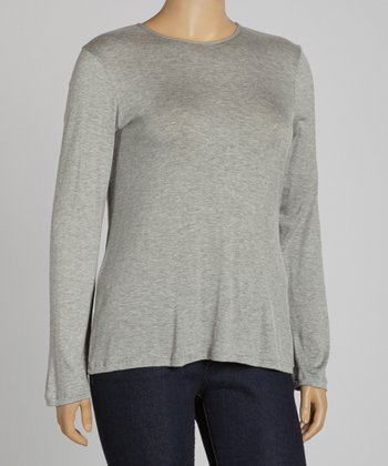 Heather Gray Dolman Top - Plus