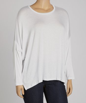White Dolman Top - Plus