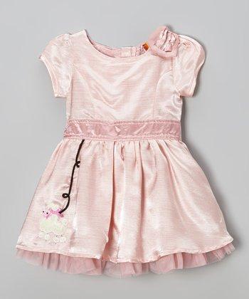 Pink Shantung Dress - Infant & Toddler